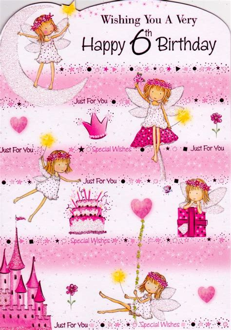 6 Year Birthday Card Sayings Backyard Neighbor Happy 6th Birthday Pink Saturday