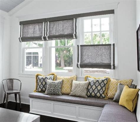 Media Room Blackout Curtains Top Down Bottom Up Flat Roman Shades Fabric Shades