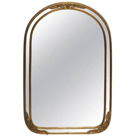 antique brass wall or vanity mirror for sale at 1stdibs
