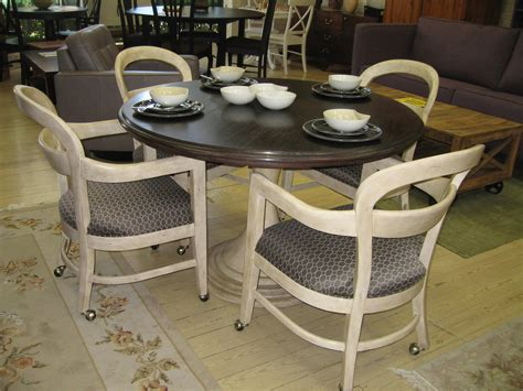 furniture brown wicker dining room chairs with casters