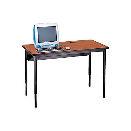 36 Computer Desk Bretford Quattro Computer Desk 32 H X 36 W X 24 D Mist Gray By Office Depot Officemax