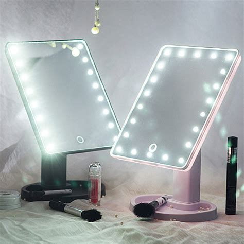 touch screen cosmetic mirror  led light makeup tool
