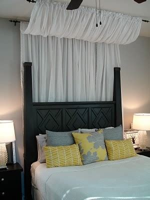 how to make a canopy with curtain rods tuesday s tips use curtains rods for bed canopies
