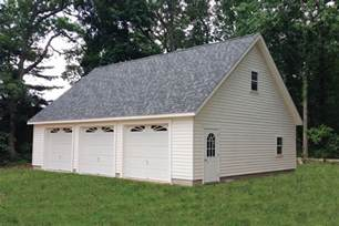 Three Car Garages by Detached Three Car Garages From The Amish Sheds