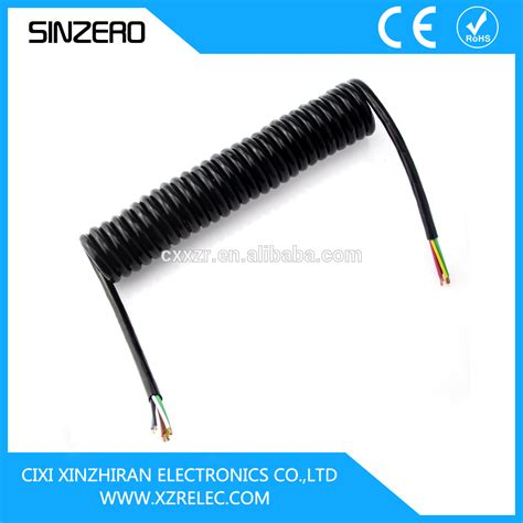 7 trailer cable electrical cable spiral coiled