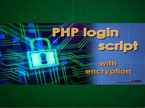 cryptography tutorial php login script with encryption tutorial with exle