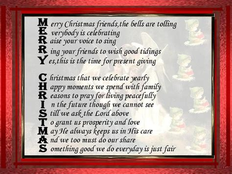 merry christmas friendship poems