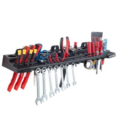 Stalwart 24 in grey wall mount tool organizer shelf m220003 the home depot