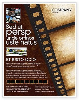 movie strip flyer template background in microsoft word