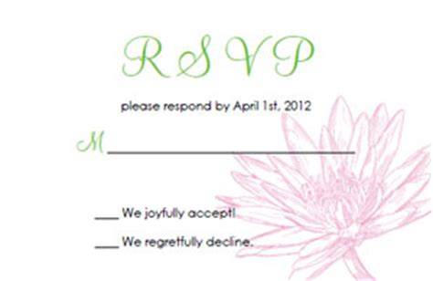 free jpeg response card template free wedding invitation templates
