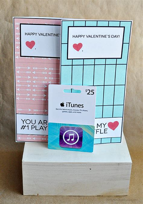 Print Itunes Gift Card - printable itunes gift card template for valentine s day gift card template itunes