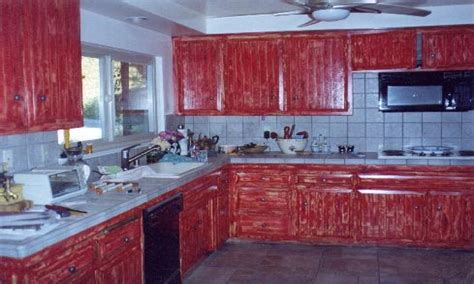red painted kitchen cabinets attic bedroom paint ideas barn red painted kitchen