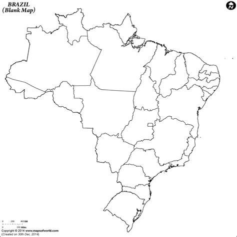 Blank Map of Brazil   Brazil Outline Map