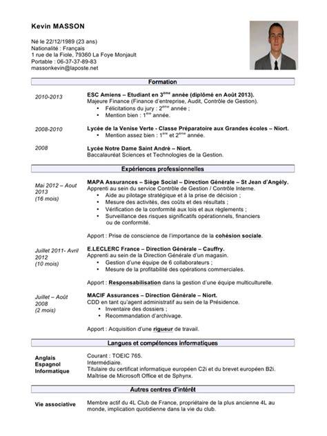Modèle De Lettre De Motivation Gratuit Pdf modele cv adjoint administratif 2eme classe cv anonyme