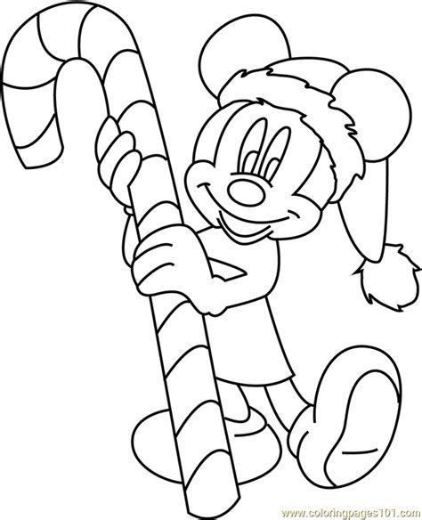 mickey mouse merry christmas coloring pages mickey mouse merry christmas with candy coloring page