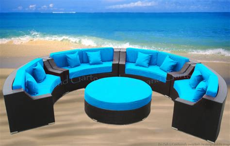 round patio couch round outdoor wicker sectional sofa patio furniture cpr