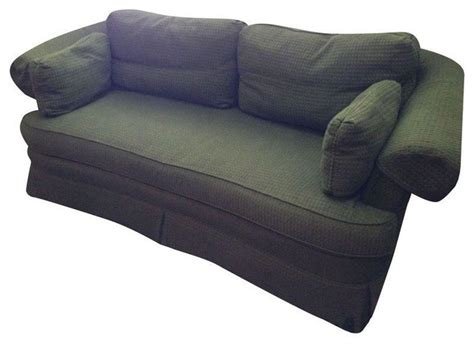 hunter green couch hunter green rolled arm sofa transitional sofas by