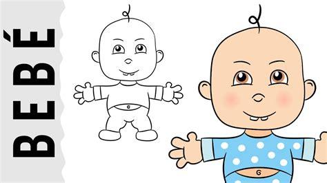 imagenes de bebes faciles para dibujar como dibujar un beb 233 paso a paso con dibujart com youtube