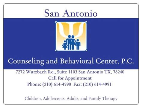 Detox And Mental Centers In San Antonio Tx by San Antonio Counseling And Behavioral Center