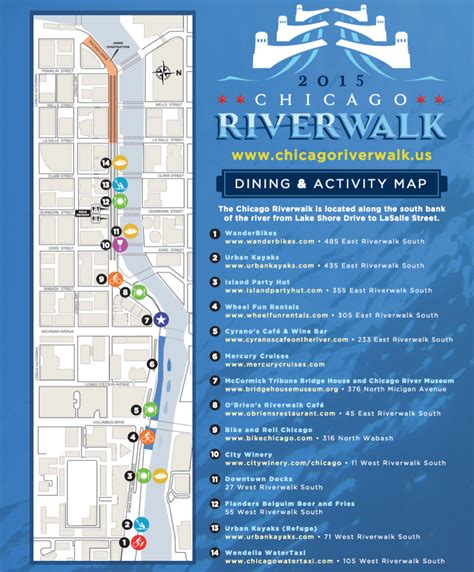 chicago riverwalk map things to do in chicago the westin chicago river