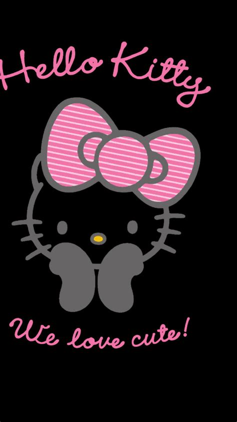 hello kitty themes black and pink hello kitty wallpaper pink and black 183