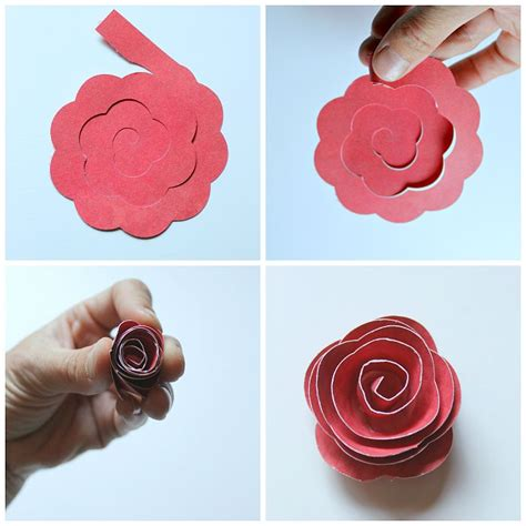 Craft Paper Roses - rolled paper flower shadowbox cricut cricut explore air