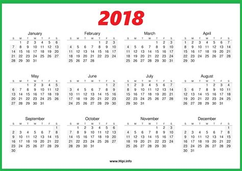 printable calendar 2018 one page twitter headers facebook covers wallpapers calendars