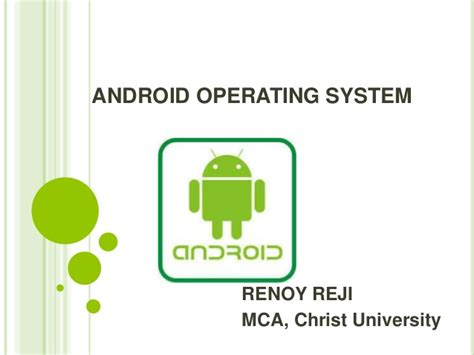 operating system for android android operating system