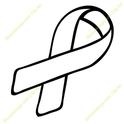 cancer ribbon template best cancer ribbon outline 23890 clipartion