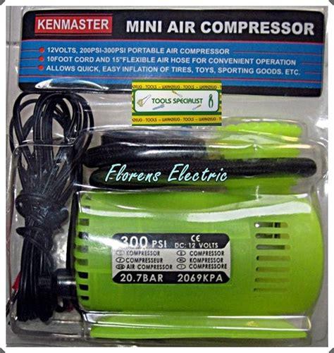 Mini Air Compressor Pompa Ban Electric Kenmaster jual mini air compressor pompa angin otomatis kenmaster 300 psi florens electric