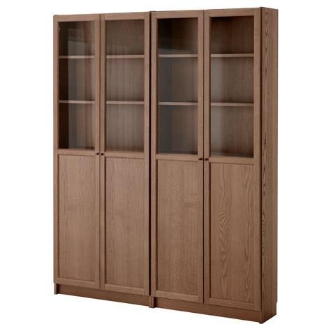 billy oxberg bookcase ikea billy oxberg bookcase brown ash veneer 160x202x30 cm ikea