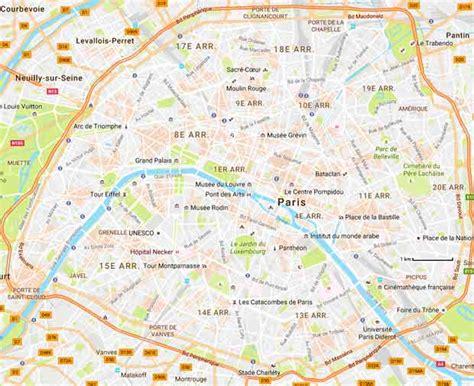 Paris Cartes Plan Mode Interactif Imprimer Maps