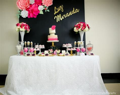 Pink And Black Baby Shower Themes by Pink And Black Floral Baby Shower Baby Shower Ideas