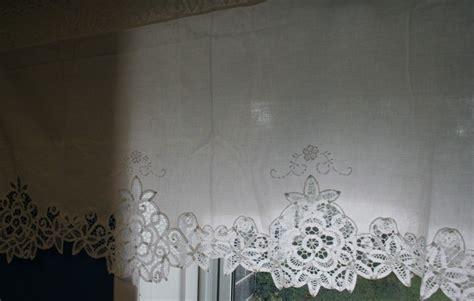 Battenburg Lace Curtains Elite Battenburg With Lace Top Valances The Lace And Linens Co