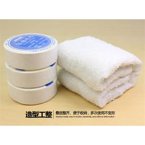 cotton compressed towel small 30 x 30 cm jakartanotebook