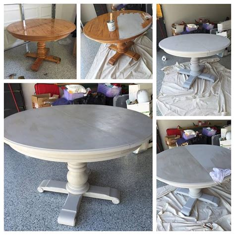 painting oak table with chalk paint grey wash pedestal dining table with sloan chalk