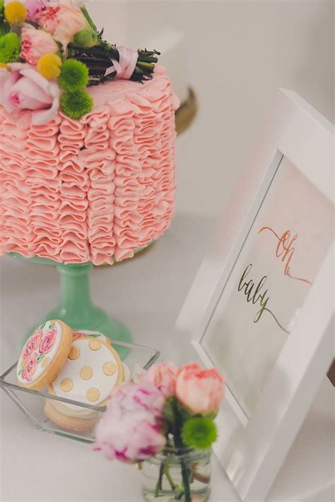 Baby Shower Luncheon Ideas by Floral Baby Shower Luncheon Via Kara S Ideas
