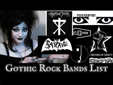 Rok Gotik rock bands list black friday