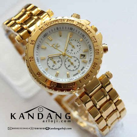 Jam Tangan Guess S278 Gold jual guess collection sport chic chrono gold
