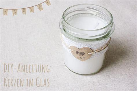 kerze im glas diy anleitung zur hochzeit romantische kerzen im glas