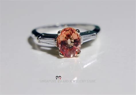 Blue Safir Sapphire 2 25ct padparadscha sapphire ring singapore island jewellery store