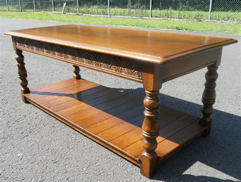 sold antique style oak coffee table