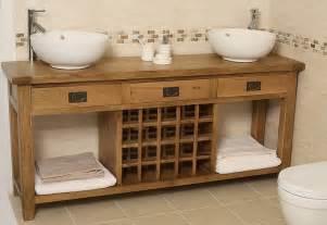 Sink Vanity Unit Freestanding Bathroom Free Standing Vanity Units Made Of Oak