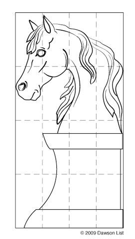 horse head ice sculpture template horse lover wood