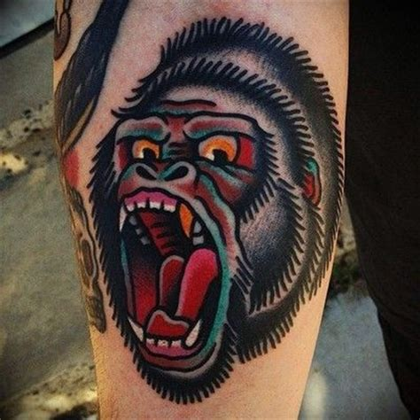traditional gorilla tattoo neo traditional gorilla search ink