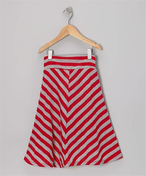 This red amp gray stripe maxi skirt infant amp toddler on zulily today