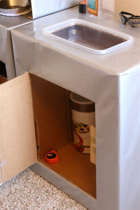 2 play sink tutorial cardboard play kitchen sink