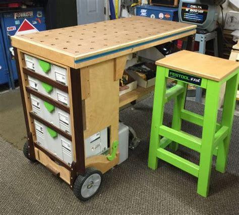 mobile woodworking bench mobile workbench mft festool diy festool workbench