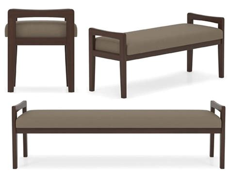 benches for office commercial wooden frame benches