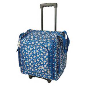 Papermania wheelable craft tote navy floral